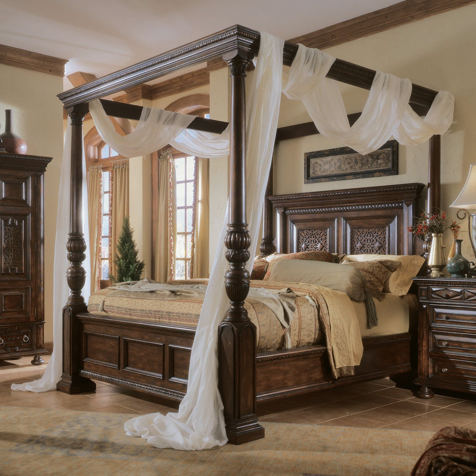 Interior design home decor furniture furnishings - Pictures of canopy beds ...