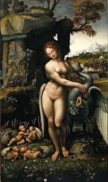 Francesco Melzi - Leda - erotismo - arte