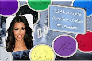 L'Analisi del Colore Kim Kardashian ovvero la Donna Inverno Profondo La Palette dei Colori non Armonici