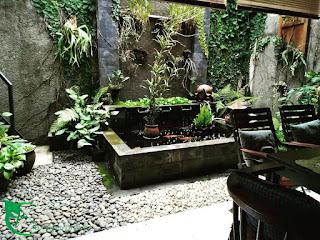 Rumah asri memiliki kolam dan taman minimalis, silahkan hubungi kami ud.alam indah asri