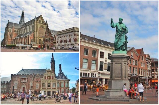 Grote Kerk o Iglesia de San Bavon, Stadhuis o Ayuntamiento, Estatua de Cooster en Grote Markt de Haarlem