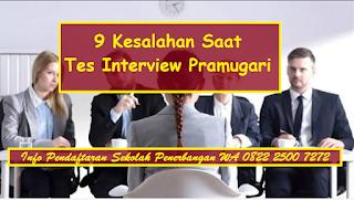 9 Kesalahan Saat Tes Interview Pramugari Lion Air Asia