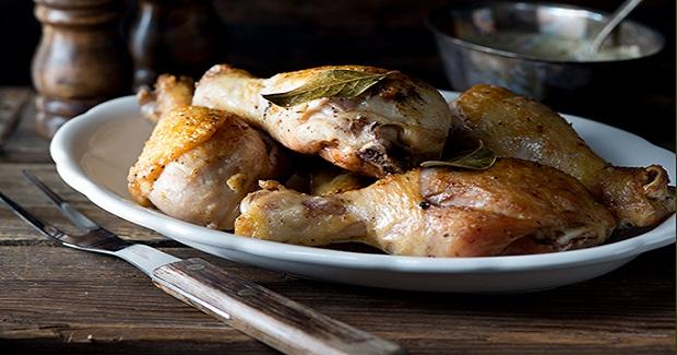 Bay Leaf Chicken Drumsticks With Tarragon Pan Sauce Recipe