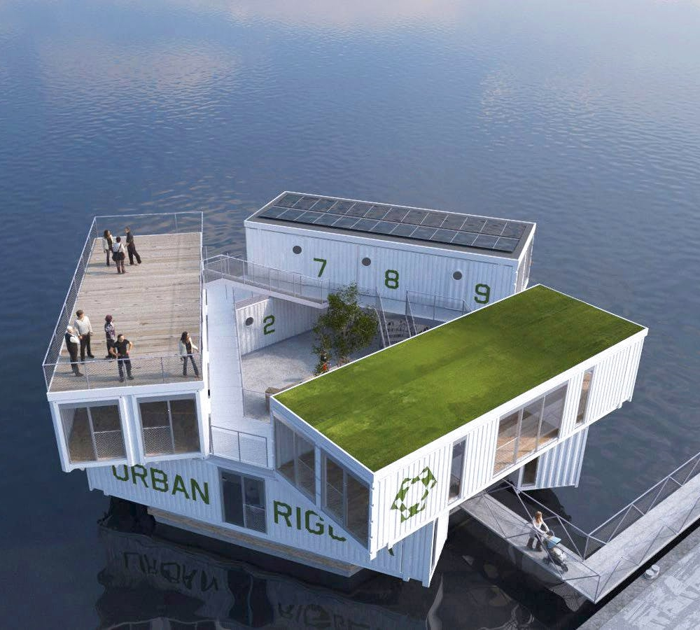 Shipping Container Homes: Floating Shipping Container Home - Urban on shipping container home laudry room, shipping container home gym, shipping container home deck, shipping container home garage, shipping container home loft, shipping container home beach, shipping container home fireplace, shipping container home carport, shipping container home bathroom, shipping container home kitchen, shipping container home studio, shipping container home office, shipping container home bedroom, shipping container home building, shipping container home flat roof, shipping container home pool, shipping container home bar, shipping container home library, shipping container home stairs,
