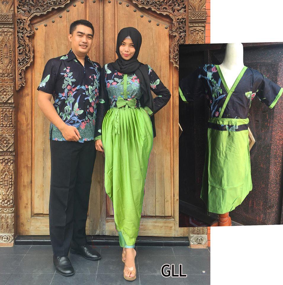 Baju Batik Couple Keluarga Modern 2016 Gll