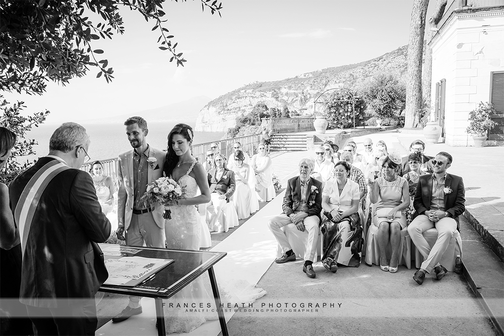 Civil wedding ceremony Villa Fondi