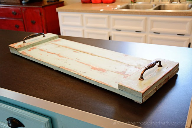 Easy-to-Make DIY Kitchen Tray | Simple project that's budget friendly and can be made in a couple of hours.