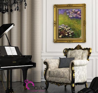 Arredamento di interni tende per interni moderne e for Tende casa classica