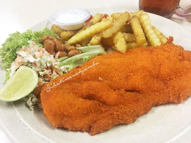 Makanan Western Murah di Restoran Pitch & Chip, Paroi Seremban