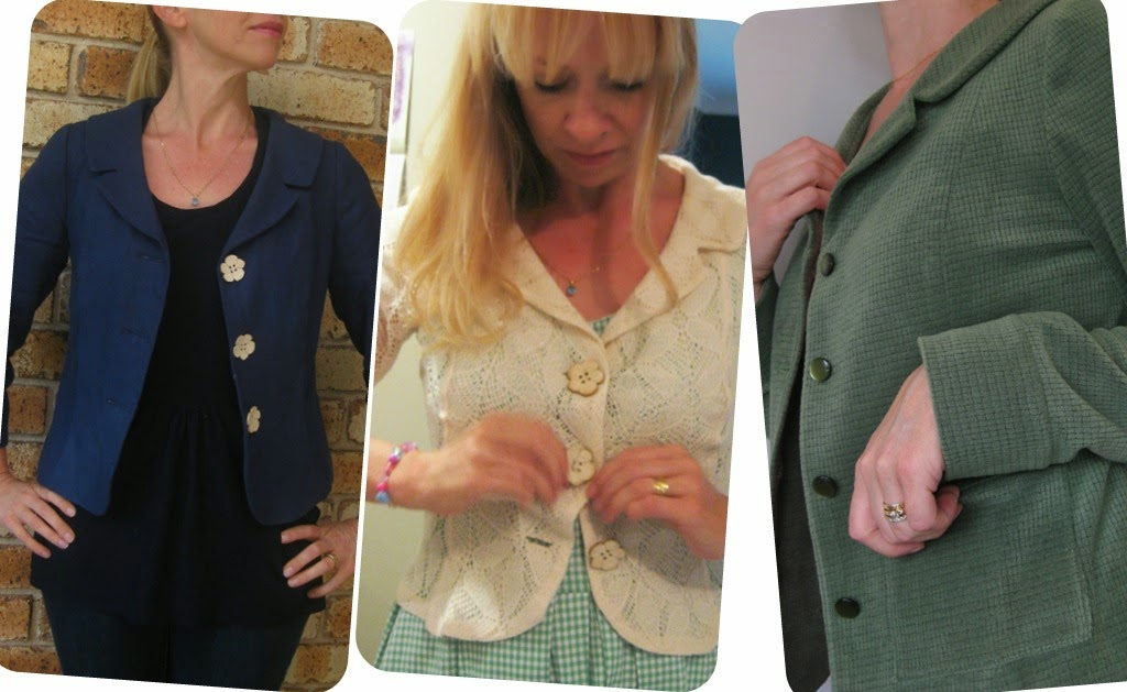 Kwik Sew 3334 - 3 Jackets - Linen, Lace and Velour.  Mmmm, velour.
