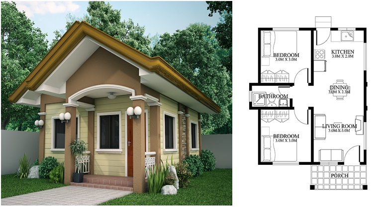 House Plan Of Small House Design 120 Sq M Decor Units