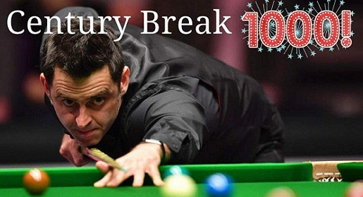 Ronnie O'Sullivan first man to reaches 1,000th career centuries - stats, most 147, records, 2019