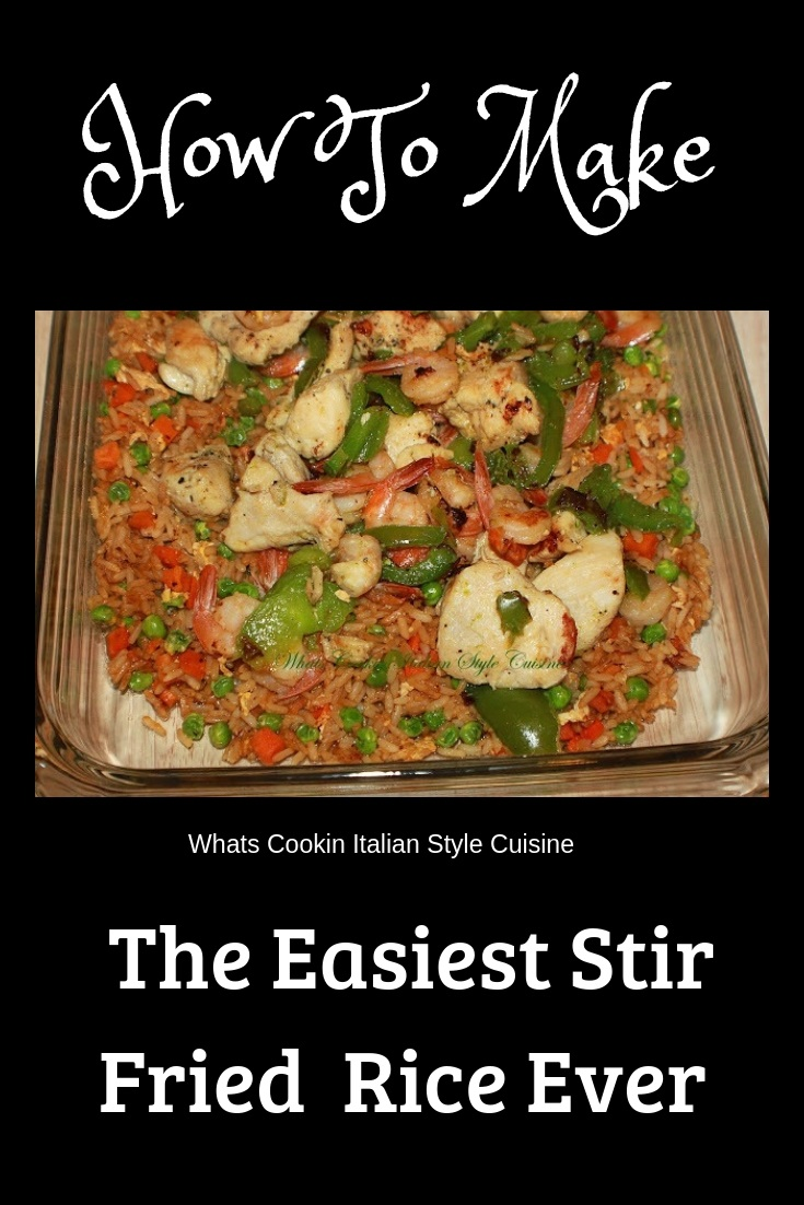 this is an easy to make chicken and shrimp stir fried rice.