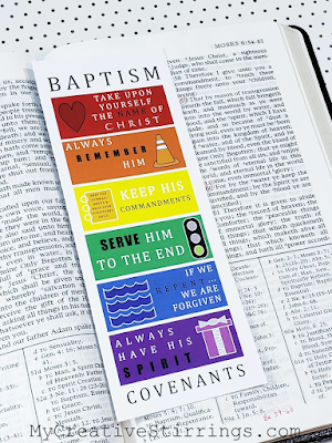 Baptism Bookmark