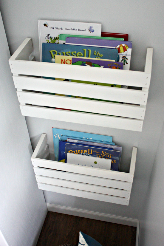 Playroom Progress: Great Crate Book Storage
