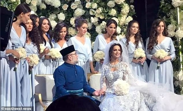 Former Miss Moscow, 25, marries Malaysia's King Muhammad V, 49, after converting to Islam