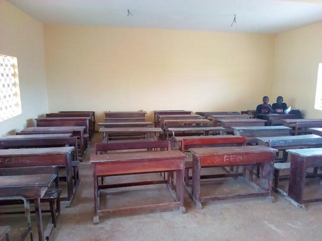 Au lycée Léopold Sédar Senghor sur deux classes réunies seulement 15 élèves ont répondu à l'appel