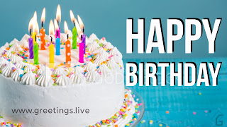 Happy birthday cake and candles greetings live HD Image