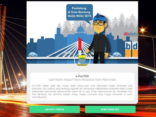 Cara Daftar di Aplikasi E-PunTen, SKTS bagi Pendatang di Kota Bandung