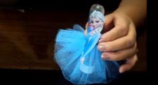 Como fazer lembrancinha Frozen - Tubete Anna e Elsa