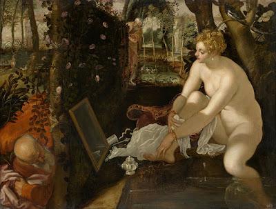 Le Tintoret - Suzanne et les vieillards,155-1556.
