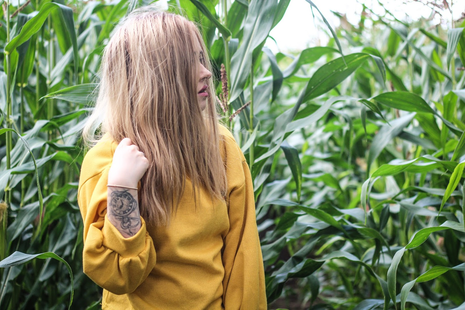 Fashion Blogger Lucy Love Styles Yellow Shein Sweater