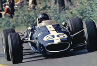 Dan Guarney at speed on the way to winning the  Belgian Grand Prix at Spa.  Photo Courtesy of  All American Racers
