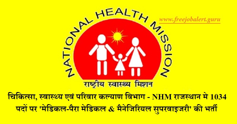 NHM Rajasthan, NRHM, Rajasthan, Medical Officer, Lab Technician, Graduation, BAMS, Medical, Latest Jobs, nhm rajasthan logo