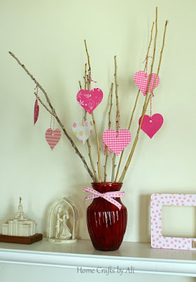 scrapbook paper valentine heart tree cricut explore decor display