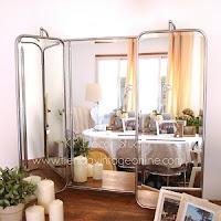 Decorar con espejos antiguos con hojas abatibles. espejos trípticos vintage