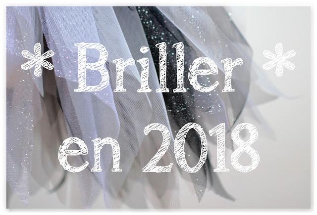 texte briller en 2018 fond flou paillettes