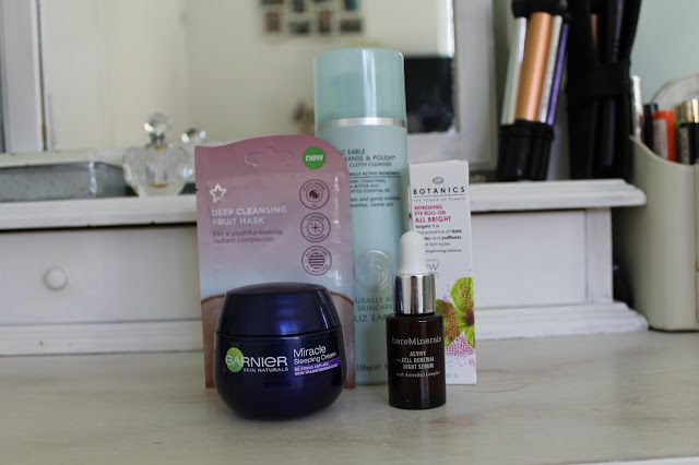 My Sunday Pamper Routine, Beauty, Face Mask Superdrug, BareMinerals Serum, Garnier Sleeping Cream, Botanics Eye Roll-On, Liz Earle Cleanse & Polish, Soap & Glory Foot Cream, Aussie 3 Minute Conditioner, Bed Head TIGI Blow-Out, Leighton Denny Nail Cream, Neal & Wold Blow-Dry Balm, Elizabeth Arden Eight Hour Cream,