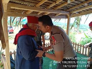 Kapolres Ciamis bersama Dandim 0613 Ciamis Sambangi  Yayasan Ponpes Sirnarasa