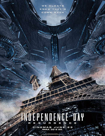 Poster Of Independence Day Resurgence 2016 Dual Audio 750MB HDTS [Hindi - English] Free Download Watch Online Worldfree4u