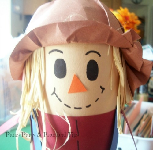 the  finished scarecrow hat