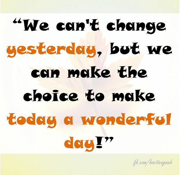 We can't change yesterday