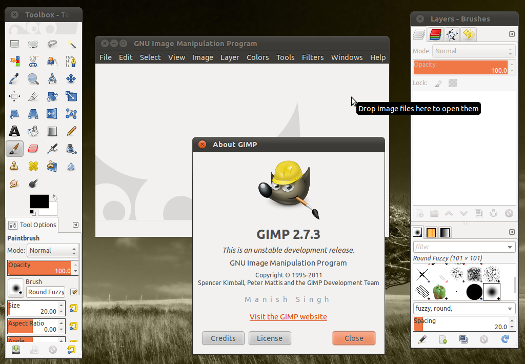 How to Install GIMP 2 7 in Ubuntu 11 04 Natty Narwhal, 11 10, 10 10