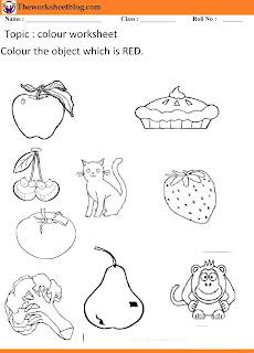 Colour recognition worksheets.