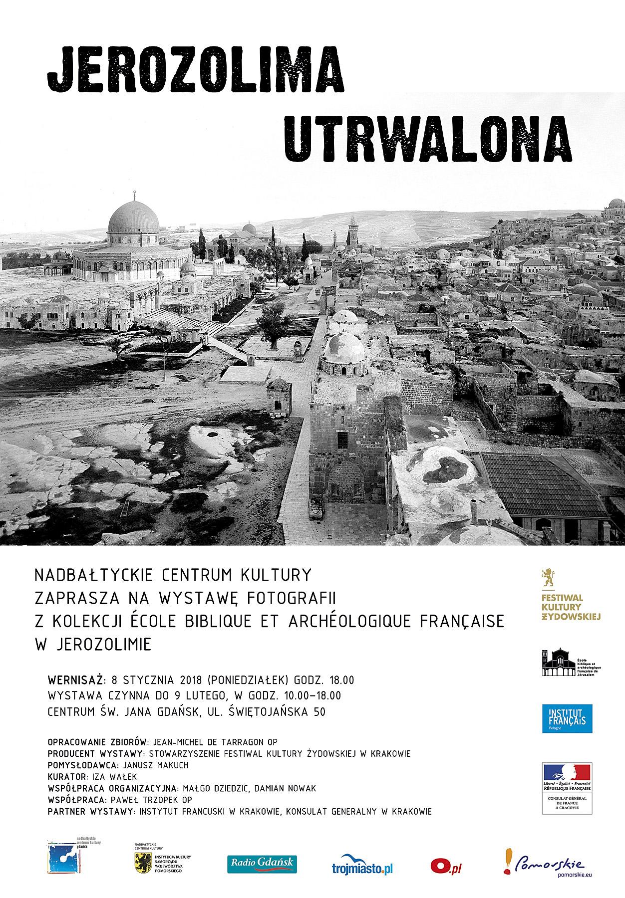 Plakat informacyjny do wystawy w Nadbałtyckie Centrum Kultury w Gdańsku