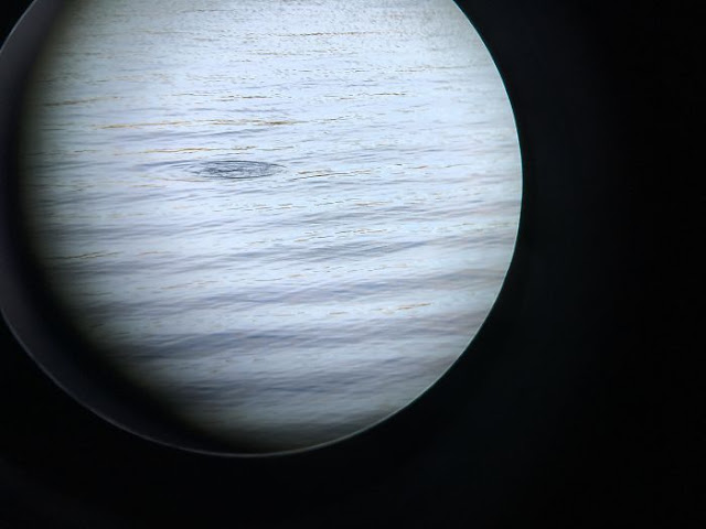 Photo I Took Of A Lake Through The Lense Of Binoculars Looks Like A Planet