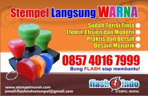 Stempel warna murah flashindo, Stempel warna murah otomatis, Stempel warna murah online