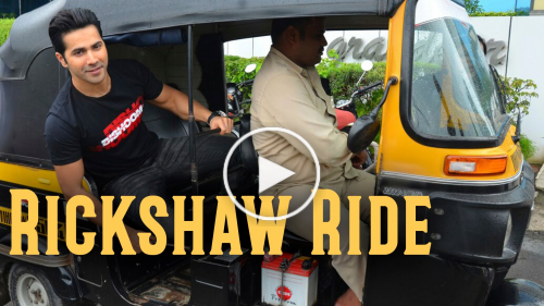 Varun Dhawan's Rickshaw Ride for 'Dishoom'