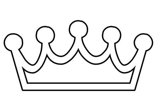 dibujos de corona par imprimir