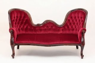 Double Antique Victorian Sofa