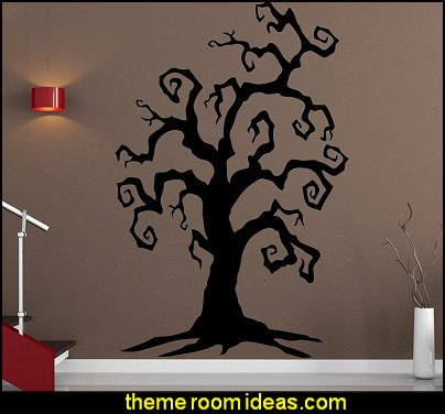 Spooky Branches Tree Wall Decal Sticker Nightmare Before Christmas theme bedroom decorating ideas - jack skellington decor - Nightmare Before Christmas Bedroom Decor -  Jack skellington Sally the nightmare before Christmas - Nightmare Before Christmas  bedding - Halloween - Tim Burton - Sally Nightmare Before Christmas bedroom