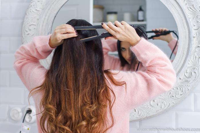 Resultado pelo brillante Set Double Gold  planchas del pelo y rizadores es de TITANIO de la marca GOLDEN CURL