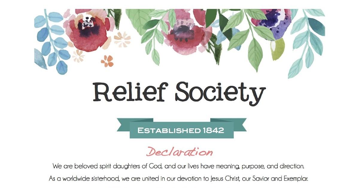 Meet the Makise\u0027s Relief Society Declaration  Purposes
