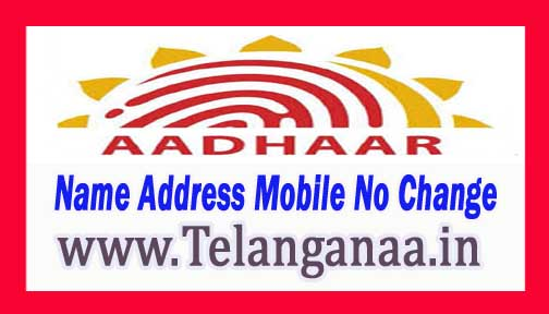Aadhaar Card Corrections Online Update Name Address Mobile Number Change