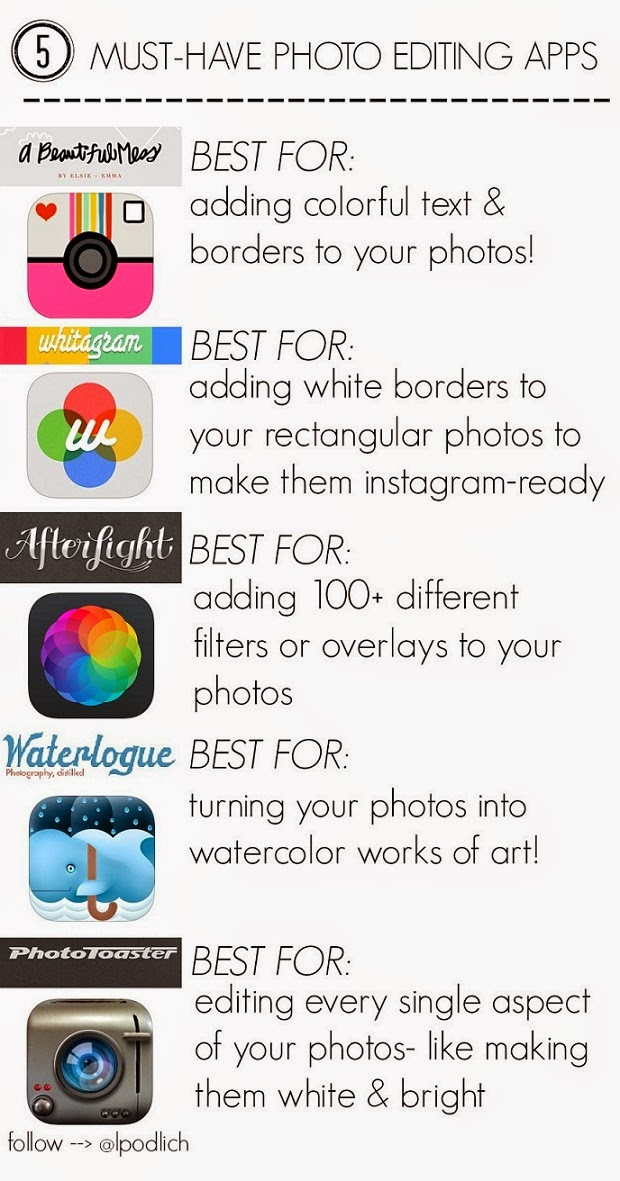 must-have photo editing apps!