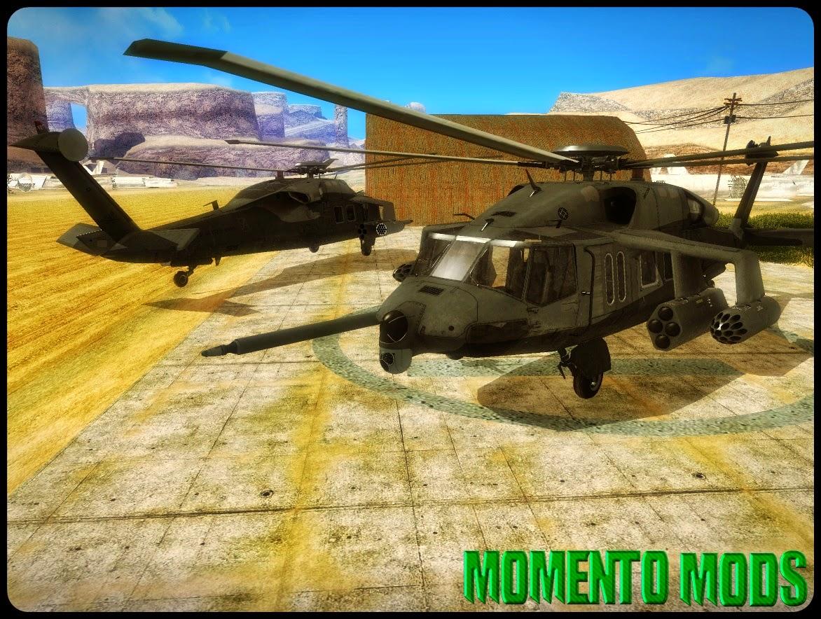 GTA SA - MH-X Silent Hawk | Momento Mods - Mods Para GTA